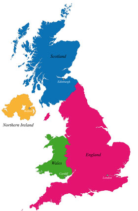 Map of the UK showing where Promotional Staff UK supply staff to
