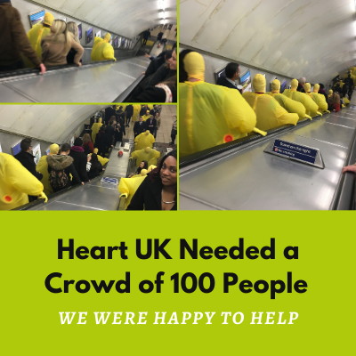 Hiring A Crowd Of 100 People In London